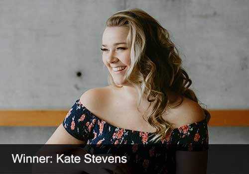 2018 Female Artist of the Year Winner & Zackariah and the Prophets Award - Kate Stevens