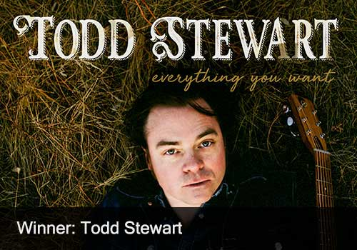 2018 Folk Recording of the Year Winner - Todd Stewart